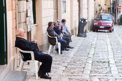 Sicilian old men Royalty Free Stock Photography