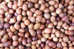 Sicilian olives background Stock Image