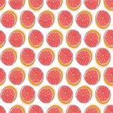 Sicilian orange bakgrund Sömlös modell för färgrik vektor med sommarfrukter royaltyfri illustrationer