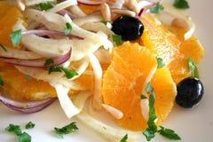 Sicilian orange salad. With fennel Stock Photos