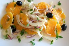 Sicilian orange salad. With fennel Royalty Free Stock Images