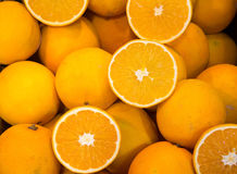 Sicilian oranges for sale at the greengrocer Royalty Free Stock Photography