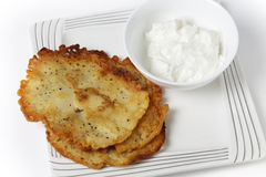 Sicilian panella and yoghurt Stock Photo