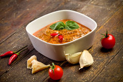 Sicilian Pesto with chili Stock Images