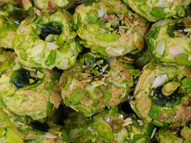 Sicilian pistachio and almond cookies Royalty Free Stock Photography