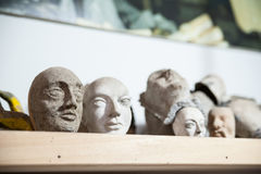 Sicilian puppets heads Stock Photography