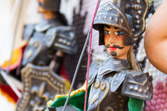 Sicilian puppets for sale Royalty Free Stock Photography