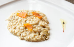 Sicilian risotto with bottarga - cured fish roe stock images