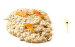 Sicilian risotto with bottarga - cured fish roe, isolated stock photos
