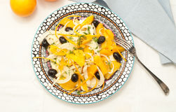 Sicilian salad with oranges, fennel and olives Royalty Free Stock Images