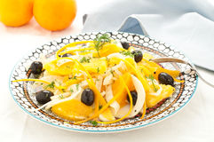 Sicilian salad with oranges, fennel and olives Stock Images