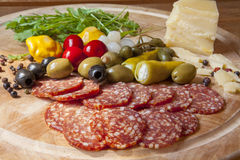 Sicilian salami 5 Royalty Free Stock Photos