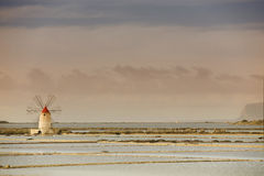 Sicilian Salt Mill Royalty Free Stock Photo