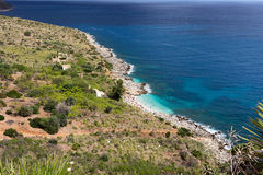 Sicilian seacost -  Zingaro Nature Reserve in Sicily - Royalty Free Stock Photo