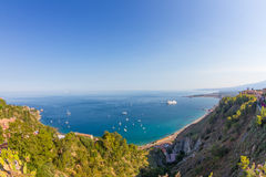 Sicilian seascape from Taormina Royalty Free Stock Photos
