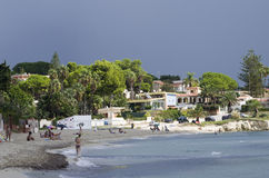 Sicilian segla utmed kusten Royaltyfria Bilder