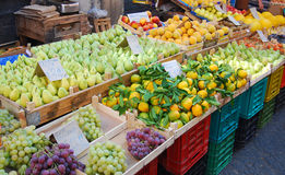 Sicilian street market in Catania Stock Photo