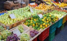 Sicilian street market in Catania Stock Photo