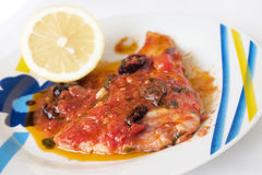 Sicilian stuffed swordfish Stock Photo