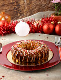 Sicilian sweet with dried figs and pastry on the Christmas table. On complex background Stock Photography