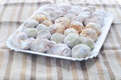 Sicilian sweets made with almond paste Royalty Free Stock Photography