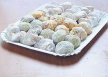 Sicilian sweets made with almond paste Stock Images
