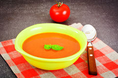 Sicilian Tomato Soup. National Italian Cuisine Stock Photos
