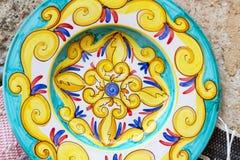 sicilian traditionellt för closeupkrukmakeri Royaltyfri Fotografi
