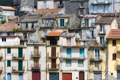 Sicilian village with houses built above each other Stock Photo