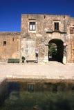 Sicilian village main street Stock Photos