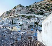 Sicilian village in mountains stock image