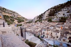 Sicilian village in mountains Royalty Free Stock Image