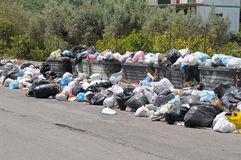 Sicilian waste crisis. The Italian waste crisis is no longer limited to Naples (napoli): this photograph was taken in Palermo on Sicily on May 5th, 2012 Stock Photography