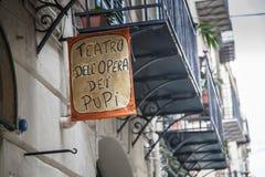 Siciliano tradicional de la marioneta Foto de archivo libre de regalías