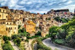 Sicilien Italien historiska Ragusa Fotografering för Bildbyråer