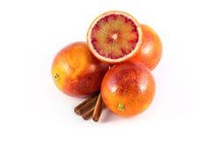 Sicilliansinaasappelen met kaneel Stock Foto