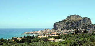 Sicily. Panorama of the seaside town of Sicily Royalty Free Stock Images