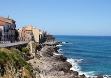Sicily. Panorama of the seaside town of Sicily Royalty Free Stock Photos