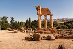Sicily Agrigento świątyni dolina Obrazy Royalty Free