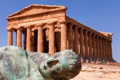 Sicily Agrigento świątyni dolina Obraz Stock