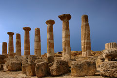 Sicily agrigento ancient. Sicily city of agrigento ancient and ruins Royalty Free Stock Photos