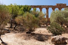 Sicily Agrigento Temple valley Stock Photo