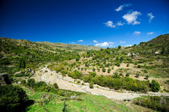 Sicily - Alcantara river valley stock image