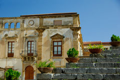 Sicily Building. Semi ruined Sicilian building at the Duomo square in Cefalu Stock Photography