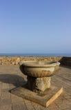 Sicily, Cefalu, terrace overlooking the sea Stock Photo