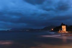 Sicily Coastline in Autumn Stock Images