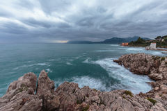 Sicily Coastline in Autumn Stock Images