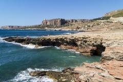 Sicily coastline italy Royalty Free Stock Photo