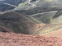 Sicily Etna summer stock photo