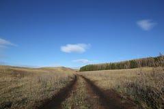 sicily för väg för panorama för land för luftblueoklarheter öppen sky Royaltyfri Foto
